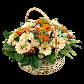 """Корзина цветов """"Любимой"""""""