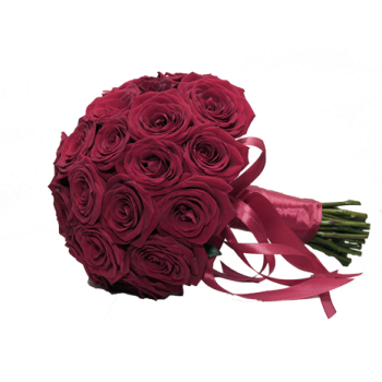 Букет невесты из бордовых роз