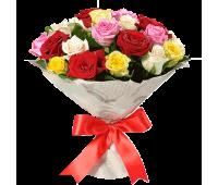 25 Разноцветных Роз