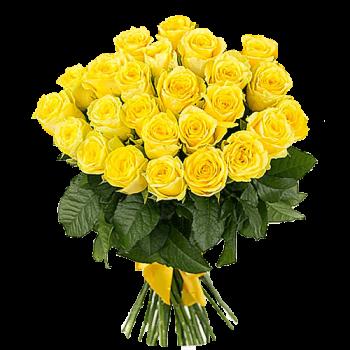 Букет 25 Жёлтых Роз