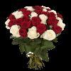 31 Роза Микс (красная и белая)
